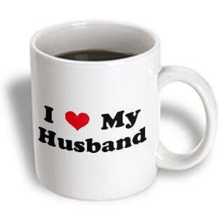 3dRose - Mark Andrews ZeGear Love - I Love My Husband - 11 oz mug PartNumber: 011V006385285000P KsnValue: 011V006385285000 MfgPartNumber: mug_16582_1