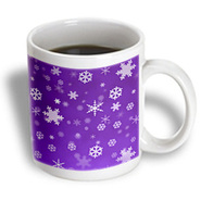 3dRose - Rewards4life Gifts - Winter Snowflakes Purple - 15 oz mug at Kmart.com