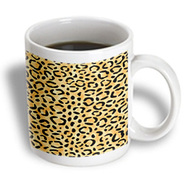 3dRose - Rewards4life Gifts - Leopard Print Natural - 15 oz mug at Kmart.com