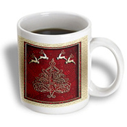 3dRose - Beverly Turner Christmas Design - Reindeer and Christmas Tree - 11 oz mug at Kmart.com