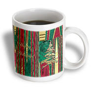 3dRose - Beverly Turner Christmas Design - Gold Tree on Abstract Design Happy Holidays - 11 oz mug at Kmart.com