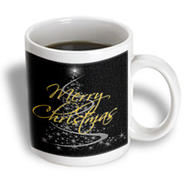 3dRose - Boehm Graphics Holiday Christmas - Silver christmas tree with Merry Christmas type - 15 oz mug at Kmart.com