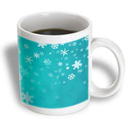 3dRose - Rewards4life Gifts - Winter Snowflakes Blue - 11 oz mug at Kmart.com