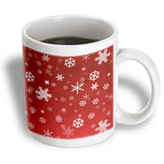 3dRose - Rewards4life Gifts - Winter Snowflakes Red - 11 oz mug at Kmart.com