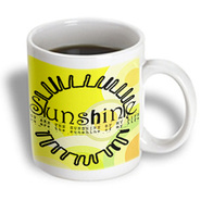 3dRose - PS Inspirations - You Are My Sunshine Yellow Sun Art - 15 oz mug at Sears.com