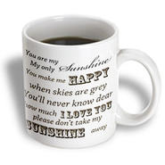 3dRose - PS Vintage - You Are My Sunshine- Word Art- Vintage Song - 15 oz mug at Sears.com