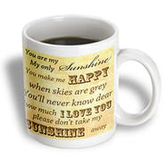 3dRose - PS Vintage - Vintage Songs You Are My Sunshine- Love Songs - 11 oz mug at Sears.com
