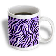 3dRose - Rewards4life Gifts - Furry Zebra Purple - 11 oz mug at Kmart.com