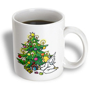 3dRose - Houk Kidsplanet – Illustrations for kids - Christmas time – Cristmas tree and angel - 11 oz mug at Kmart.com