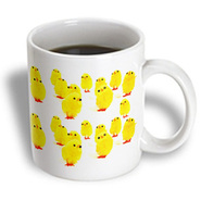 3dRose - Sandy Mertens Easter  - Toy Baby Chicken - 11 oz mug at Kmart.com