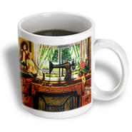 3dRose - Florene Vintage - Image Of 1899 Singer Sewing Machine In Country Room - 15 oz mug at Kmart.com