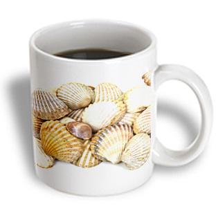 3dRose - Patricia Sanders Photography - Sea Shells by the Sea Shore - Summer - Beach Theme - 11 oz mug PartNumber: 011V006387461000P KsnValue: 6387461 MfgPartNumber: mug_50550_1