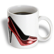 3dRose - PS Creations - Dotted Red High Heel - Fashion - Shoes - Art - 11 oz mug at Kmart.com