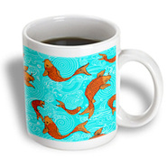 3dRose - Boehm Graphics Style - Arts and Crafts Style Koi Fish in Water - 11 oz mug at Kmart.com
