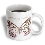 3dRose - PS Inspirations - Inspirational Pink Butterfly with You Are My Sunshine - 11 oz mug at Sears.com