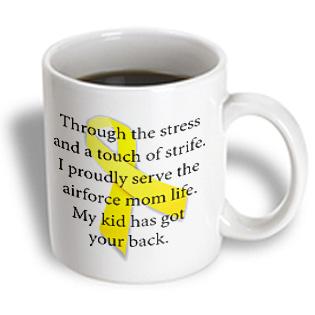3dRose - EvaDane - Parenthood - Air Force Mom. Support our troops. - 11 oz mug PartNumber: 011V006385359000P KsnValue: 6385359 MfgPartNumber: mug_123097_1
