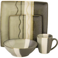 SANGO Zanzibar Black 16 piece Dinnerware Set at Kmart.com