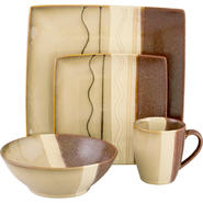 SANGO Zanzibar Brown 16 piece Dinnerware Set at Kmart.com