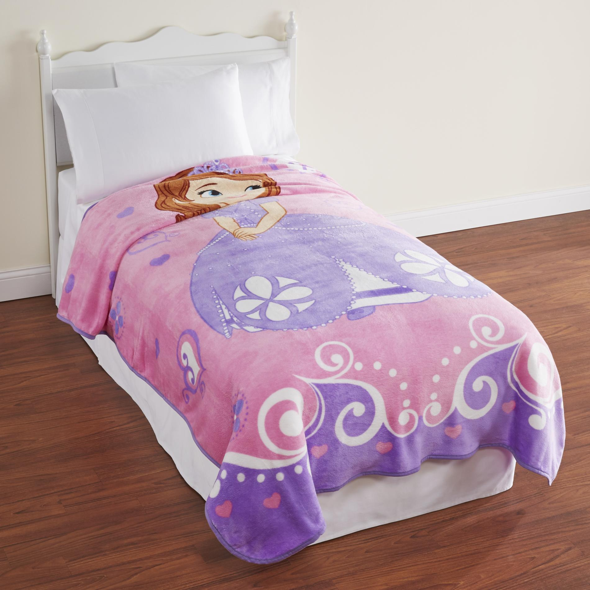 girls 39 sofia the first plush blanket home bed bath bedding