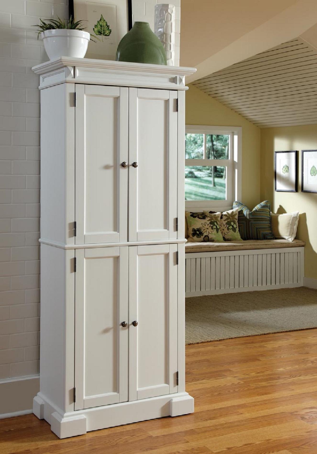 Home Styles 5004 692 Americana Pantry Storage Cabinet, White Finish