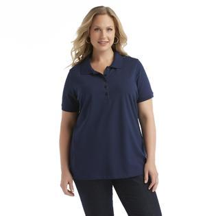 Laura Scott Women's Plus Pique Polo Shirt