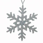 Jaclyn Smith Midnight Clear Irridescent Acrylic Snowflake Ornament at Kmart.com
