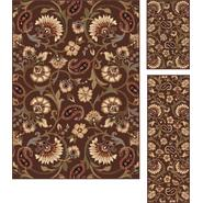 Tayse Rugs Elegance 5328 Brown Transitional Area Rug 3 pc. Set at Sears.com