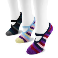 MUK LUKS® Women's 3 Pair Pack Striped Buttercreme Maryjane with Aloe at Sears.com