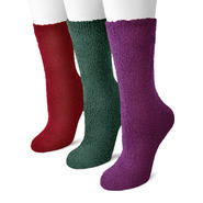 MUK LUKS® Women's 3 Pair Pack Crew Aloe Socks at Sears.com