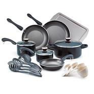 Paula Deen 19-Piece Black Non-Stick Dishwasher-Safe Signature Collection Cookware Set at Kmart.com