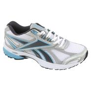 Reebok Women's Pheehan Running Athletic Shoe Wide Width - White/Grey/Blue at Sears.com