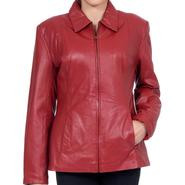 Excelled Womens  Lamb Skin Scuba Jacket - Online Exclusive at Kmart.com
