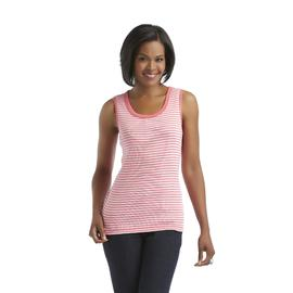Laura Scott Women's Lace-Trimmed Tank Top - Striped at Sears.com