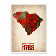 Trademark Fine Art Naxart 'South Carolina Watercolor Map' Canvas Art at Sears.com