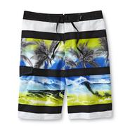 Joe Boxer Men's Swim Trunks - Palm Trees & Waves at Sears.com