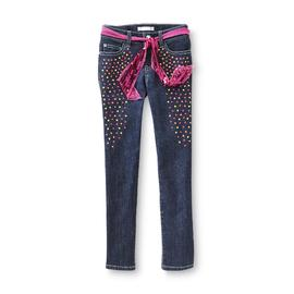 Piper Girl's Neon Studded Jeggings & Belt at Kmart.com