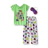 Joe Boxer Girl's Graphic Pajama Top, Bottoms & Sleep Mask - Friends at Kmart.com