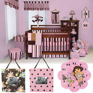 Maya 4pc Crib Set, Photo Frame & Dora The Explorer  Clock Bundle at Sears.com