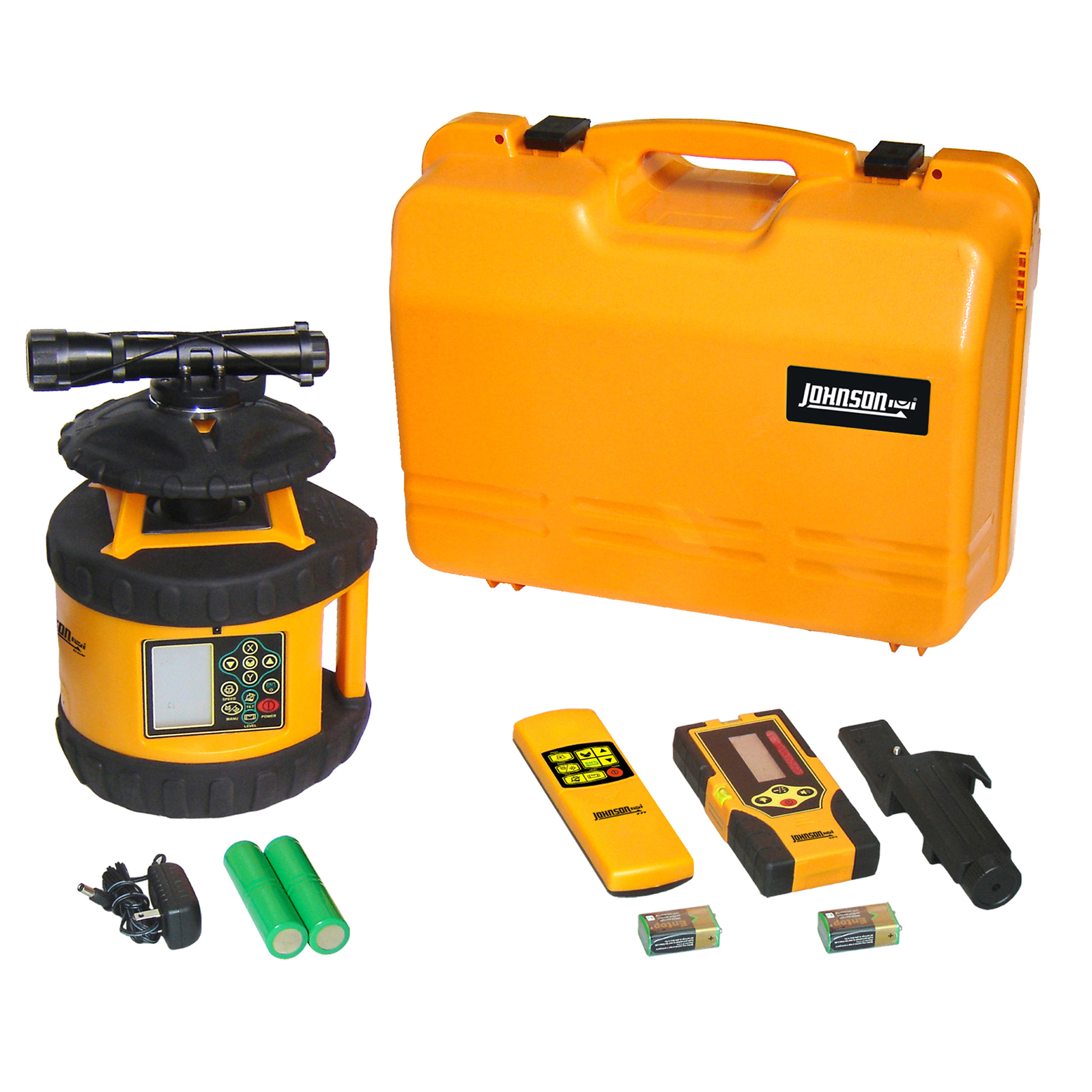 Johnson Level Electronic Self-Leveling Dual Grade Horizontal Rotary Laser Kit