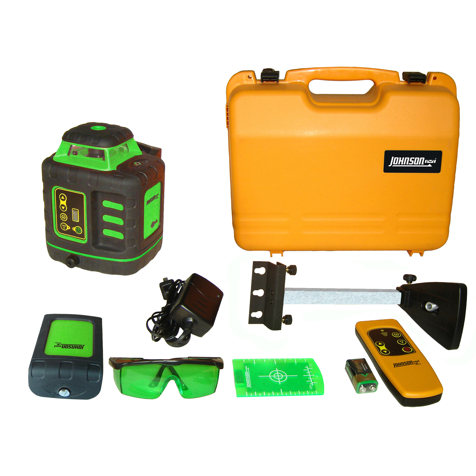 Johnson Level Self­Leveling Rotary Laser Kit with GreenBrite Technology