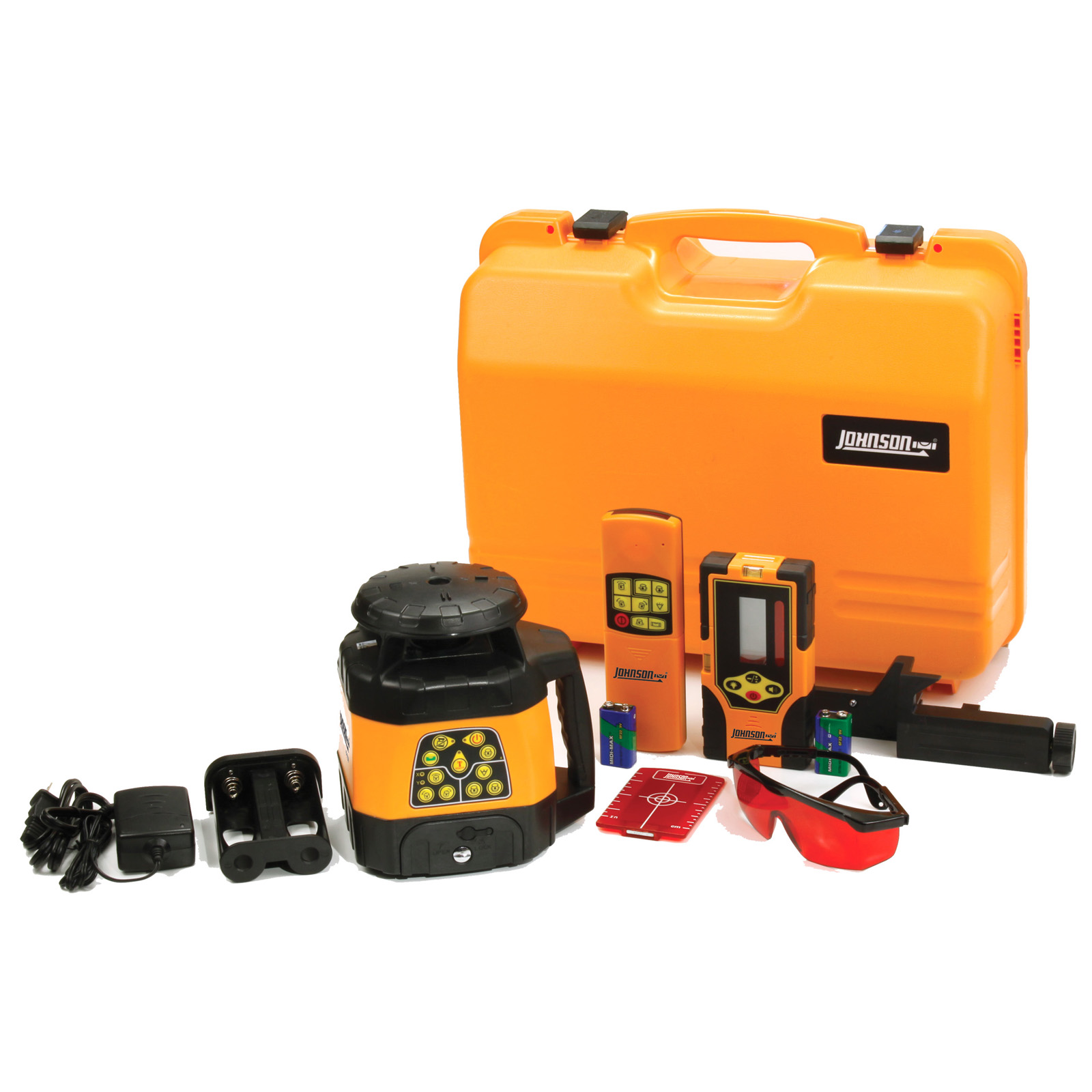 Johnson Level Electronic Self-Leveling Horizontal & Vertical Rotary Laser Kit