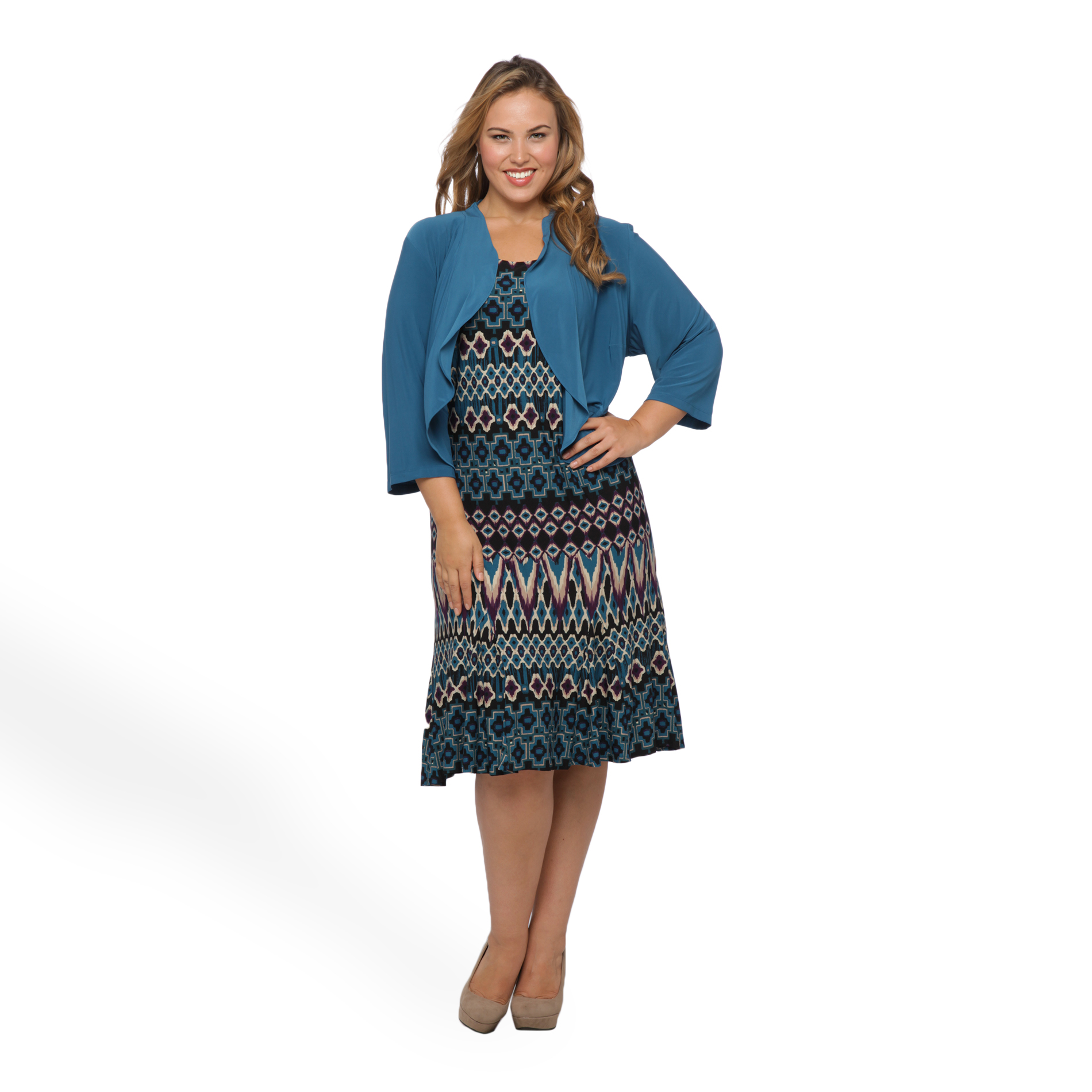 Danny & Nicole Women's Plus Jacket Dress - Abstract Print at Sears.com