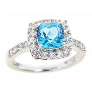 Sterlings Silver Cushion Blue Topaz Birthstone Ring at Kmart.com