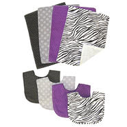Trend Lab Bouquet Set - Grape Expectations - Bib & Burp Cloth at Kmart.com