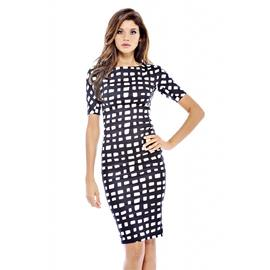 AX Paris Women's Square Printed 3/4 Sleeve Dress at Kmart.com