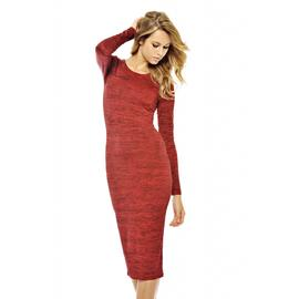 AX Paris Women's Scratch Printed Long Sleeve Midi Dress at Kmart.com