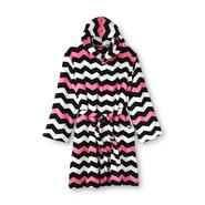 Joe Boxer Women's Short Plush Hooded Robe - Chevron Striped at Sears.com