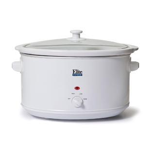 Elite Cuisine 8.5Qt Slow Cooker in White