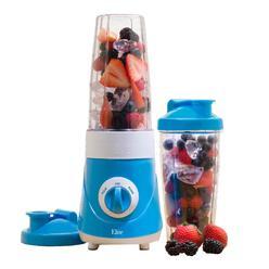 Maxi-Matic Elite EPB-2572B Cuisine Personal Drink Mixer (2) 28oz Travel Mugs, Blue