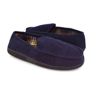 "MUK LUKS® Men's 2.5"" Blue Corduroy Moccasin with Flannel Lining at Sears.com"